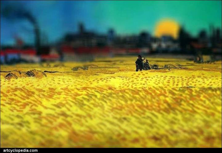 tilt-shift-van-gogh-sunset-wheat-fields-near-arles-detail.jpg